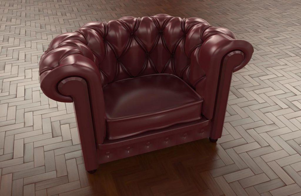 Le prix d'un fauteuil club Chesterfield